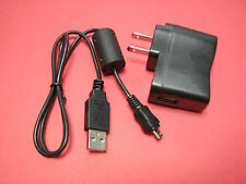 AC Wall Battery Charger IN Camera + USB PC Cable Cord For Olympus VR-330 VR330