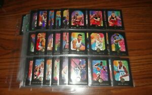 1996 SKYBOX E-XL EMBOSSED BASKETBALL COMPLETE SET OF 100 CARDS LOADED WITH STARS