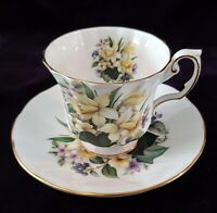 "Vintage ELIZABETHAN TEACUP & SAUCER Fine Bone China ""FLOWERS of the SEASON"""