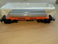 NATIONAL PIPE COMPANY PIPE CAR WITH PIPE LOAD,  HO SCALE
