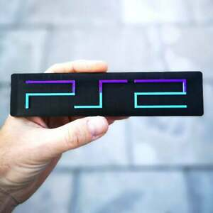 Sony Playstation 2 3D logo / shelf display / fridge magnet - gaming collectible