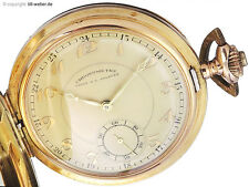 "Taschenuhr Union S.A. Soleure ""Chronometre"" Gold ca. 1930"