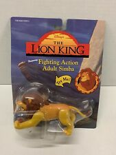 Disney VINTAGE Mattel THE LION KING Fighting Action ADULT SIMBA Toy Figure NEW