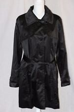 ESPRIT Outerwear Black Polyester Trench Coat Jacket Size XL