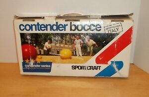 Contender Series Lacquered Wood Bocce Ball Set, Made in Italy