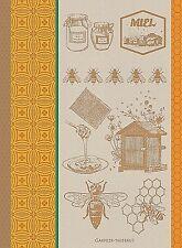 GARNIER THIEBAUT MIEL ET ABEILLES OCRE (HONEY & BEES) FRENCH KITCHEN / TEA TOWEL