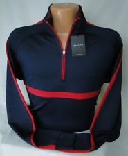 Dunning Golf L/S Competition Quarter Zip Popover in Dark Navy MSRP $115 NWT - M
