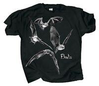 Discharge Bats Adult T-shirt S M L XL XXL Black Glows in the Dark