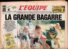 ▬►Journal L'ÉQUIPE 23 Juillet 1991 TOUR DE FRANCE INDURAIN LIETTI LEMOND MOTTET