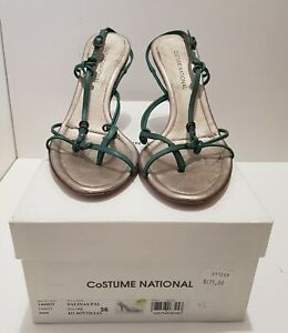 Costume National Green Strappy Sandals, size 36
