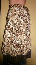 CLEVER & CHIC Multi Rock Kleid Gr. 46-52 viele Varianten Braun Leopard (D-1040)