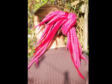 Red and Pink dreadlocks - 16 Handmade felted merino wool dreads
