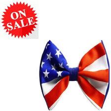 Bow Ties Mens Pre Tied American Flag Stars Stripes Uncle Sam Fancy Dress Ties