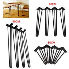 3 Multiple Sizes Hairpin Coffee Dinner Desk 3 Rods Steel Table Legs 30/60/90cm