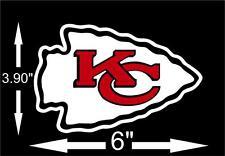 KANSAS CITY CHIEFS NFL Football Team Logo 2 Color DECAL Car Window Sticker