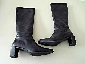 ***STUART WEITZMAN Sz 6.5M Nappa leather knee BOOTS black!!