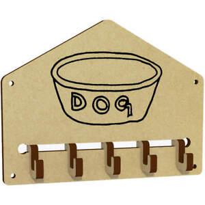 'Dog Bowl' Wall Mounted Key Hooks / Holder (WH00013075)