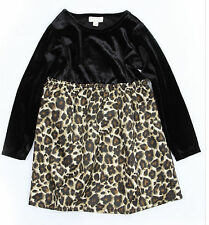 Nwt 77Kids American Eagle girls size 4 4T Leopard Party dress long sleeve new