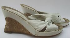 Hush Puppies size 6 (39) Cathy white leather slip on sandal wedge high heels