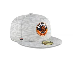 Chicago Bears Hat New Era 59Fifty 5950 Gray Retro Script Logo Fitted Size 7 Cap