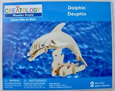 Creatology Wooden Dolphin 3D Puzzle/Figure Kit New in Package - No Stick-On Eyes