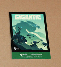 Xbox One Exclusive promo Gigantic Card from Gamescom 2015