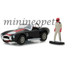 GREENLIGHT 97040 A HOBBY SHOP 1965 SHELBY COBRA with RACE CAR DRIVER 1/64 BLACK