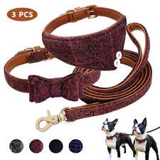 Fashion Adjustable Bowtie Collar & Bandana Collar & Leash for Small Medium Dogs