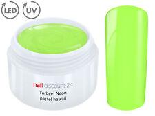 UV LED Farbgel NEON PASTEL HAWAII French Color Gel Modell Design Nagel Grün Tips