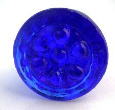 OLDER COBALT BLUE BARREL GLASS KNOBS PULLS HANDLES SWEET