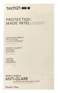 Tech 21 Impact Anti-Glare Shield Screen Protector iPhone 8 Plus 7 Plus - 2 PACK