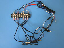 Wiring Assy with KULKA 601 8 Position, Dual Row Terminal Block/Strip - LOT of 4