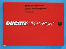 DUCATI 800/1100 SUPERSPORT   GENUINE FACTORY HANDBOOK /04