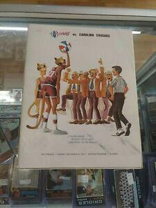 Utah Stars Vs Carolina Cougars Program 1970 With Box Score Rare