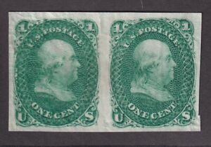 63 TC5h VF Pair Trial color yellow green plate proof cv $ 80 ! see pic !