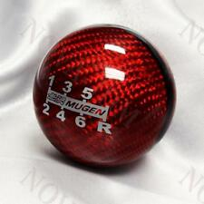 Red CARBON 6 Speed JDM Style Mugen shift knob for HONDA RSX CIVIC Type R S2000