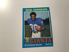 1971 TOPPS FOOTBALL #51 RON JOHNSON NEW YORK GIANTS MICHIGAN RC ROOKIE CARD