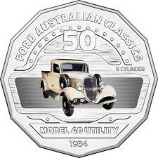 2017 Australia 50c Coloured Unc Coin- 1934 Model 40 Coupe Utility FORD Car