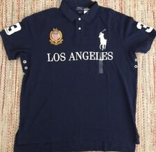 Ralph Lauren Polo Big Pony Los Angeles Rugby Custom Fit Shirt XXL
