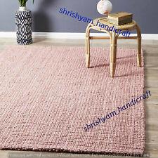 Indian Natural Jute Braided Floor Mat Handmade Reversible Yoga Mat Rectangle Rug