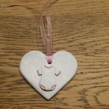 Lovely Handmade Heart Clay Gift Tag For Baby Girl - NEW