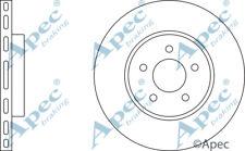 FRONT BRAKE DISCS (PAIR) FOR JAGUAR X-TYPE GENUINE APEC DSK2034
