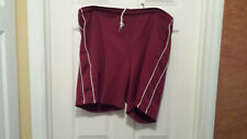Mens Burgundy shorts with white stripes Size XXL Pre Owned