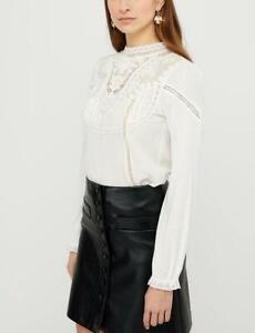 Monsoon - Vicky Victoriana Woven Front Top - Ivory - Size L (Brand New With Tag)