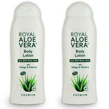 2 x Royal Aloe Vera Body Körper Lotion mit Ginko, Ginseng, 60% Bio Aloe Vera