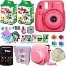 FujiFilm Instax Mini 8 Camera RASPBERRY + Accessories KIT for Fujifilm Instax