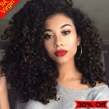 THICK Curly Wave 1/2/3 Bundles Unprocessed Virgin Human Hair Weave Wefts UK A081