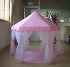 Pink Princess Castle Fairy Tent Playhouse Play Toy Kids Girls Indoor Outdoor Bed & Bed Tent | eBay