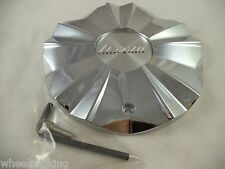 Lexani Wheels Chrome Custom Wheel Center Caps # C-612T / SI-CAP-L201 (1 CAP)