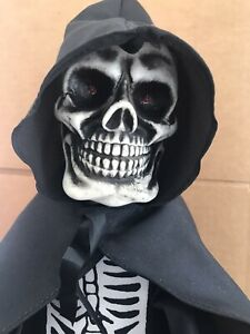 Telco 1990 Motionettes of Halloween Skeleton - Animated, w/ Sound, & Lights Up!